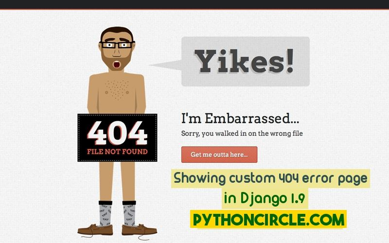 Designing custom 404 and 500 error pages in Django