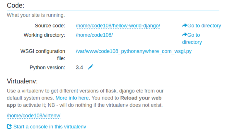 hosting django app on pythonanywhere server