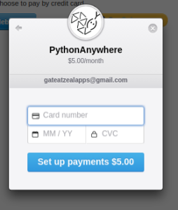 how to upgrade to paid account on pythonanywhere