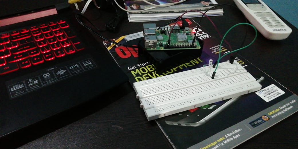 Programming on Raspberry Pi with Python: Controlling LED