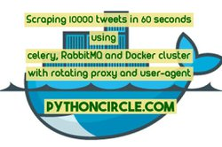 Scraping 10000 tweets in 60 seconds using celery, RabbitMQ and Docker cluster with rotating proxy