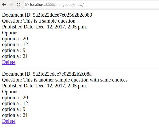 Using MongoDB in Python Django Application - https://www